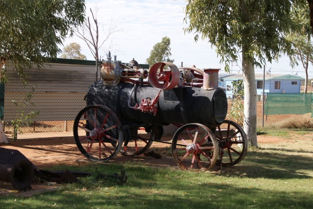 Old Engine at Stonehouse Museum Boulia