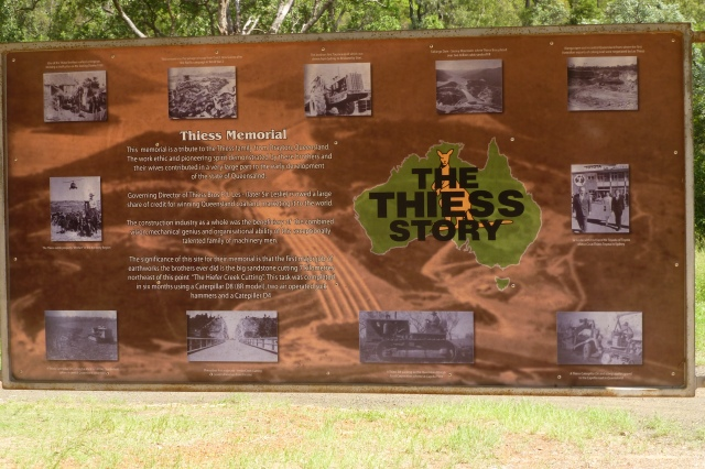 The Signboard with a Tribute to the Thiess Family