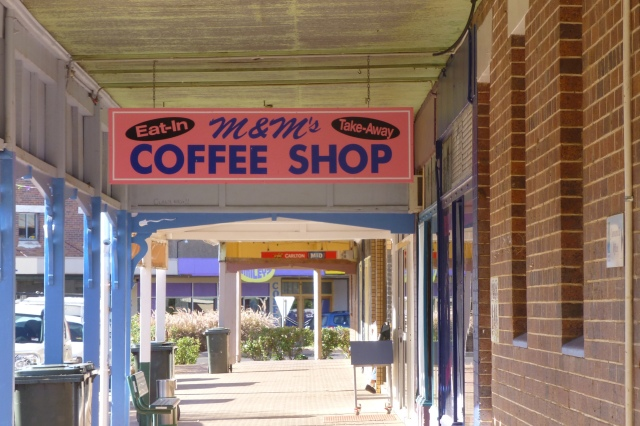 M & M (Us?) Coffee Shop in Cunnamulla