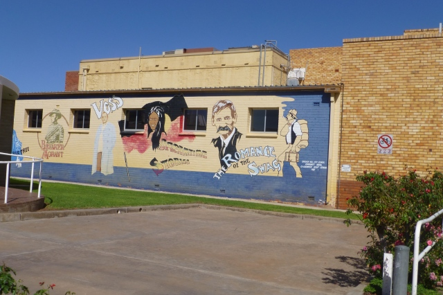 Mural on the wall of the Broken Hill Library