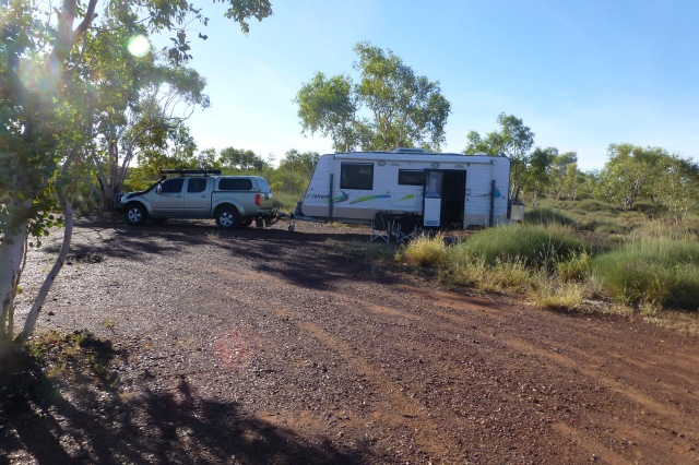 Campsite at WWII Memorial near Mt Isa