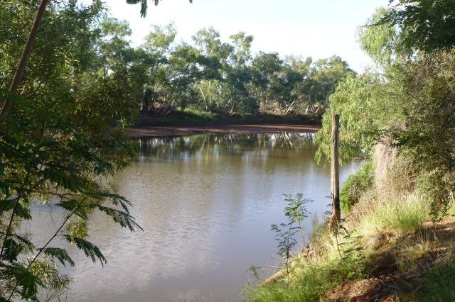 The Burke River near the Boulia Caravan Park