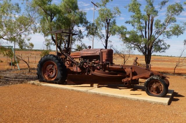 One of the many pieces of Old Machinery at Boulia