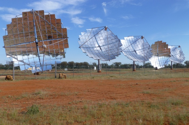 Solar Collectors for the Power Station at Windorah