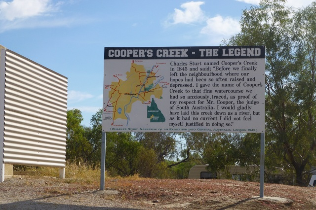 Sign at Cooper Creek Windorah