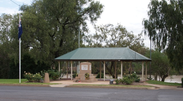 War Memorial in St George on the banks of the Balonne