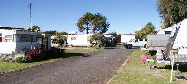 Tight spot in the Caravan Park