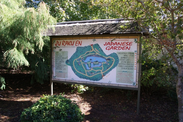 Sign at the entry to the Japanese Garden