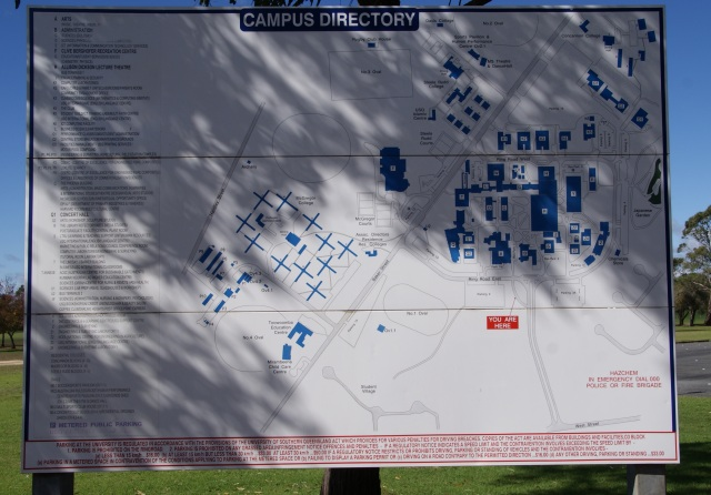 USQ Campus Directory - We were at the Red spot