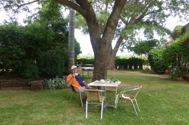 In the gardens at Riversands Winery