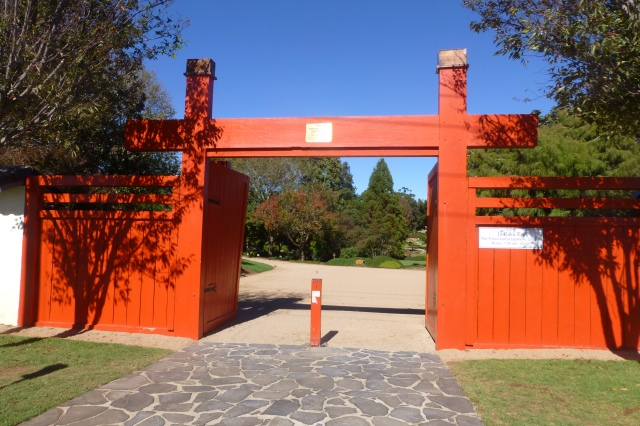 Entry gate to Japanese Gardens in Toowoomba