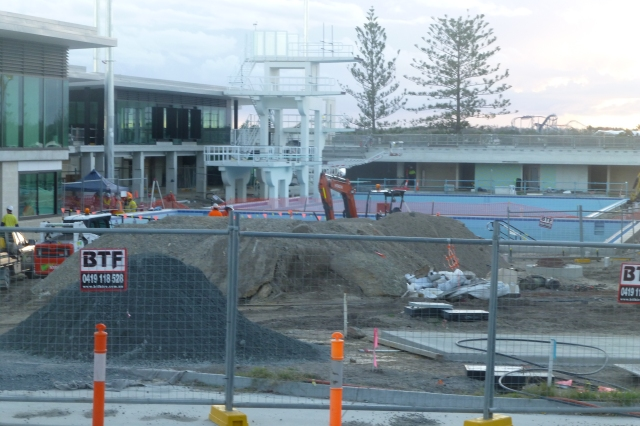 The work proceeds at Southport Aquatic Centre