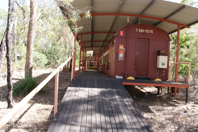 One of the old carriages used for accommodation