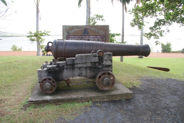 Cannon on he esplanade at Cooktown