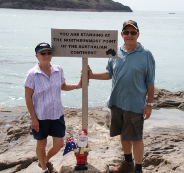 At the Tip of Cape York in 2014
