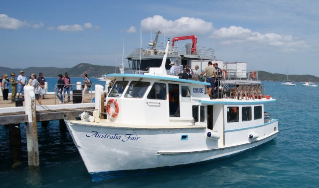 Ferry that carried us to and from Horn Island