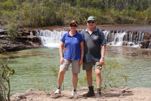 Bevan and Denise at Fruit Bat Falls
