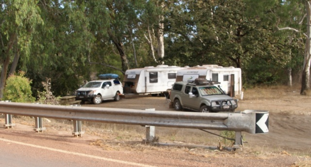 Our camp at Morehead River Rest Area