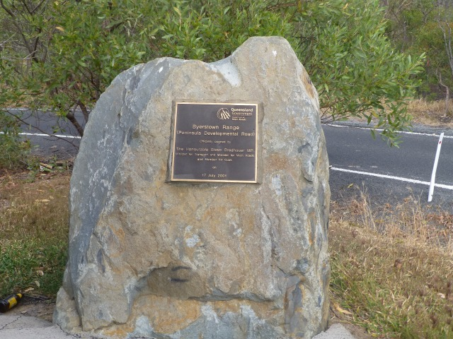 Commemoration Stone for the opening of James Earl Lookout