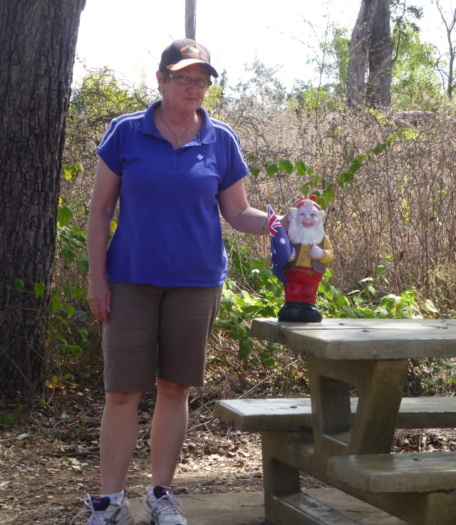 Norman - the Kilcoy Hospital gnome travels with our friends