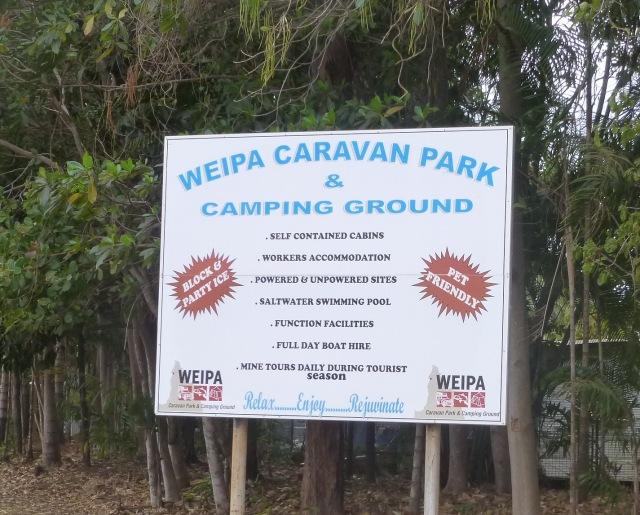 Weipa Caravan Park Entry