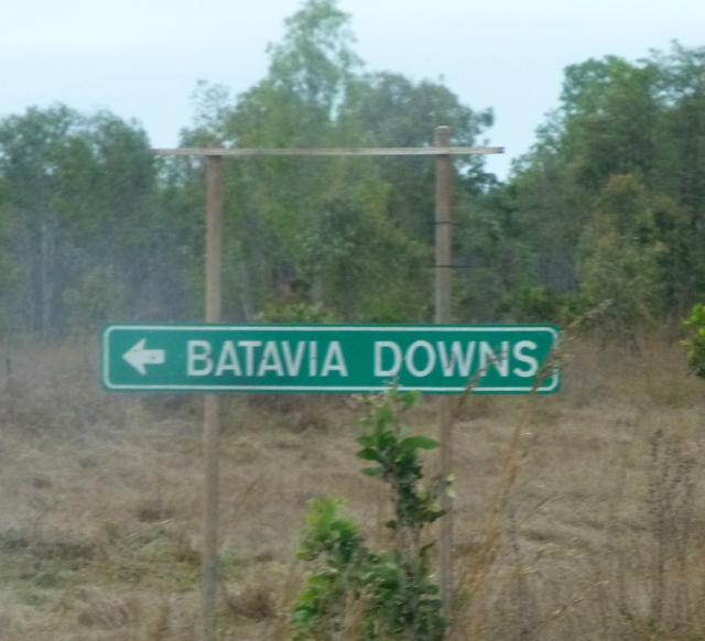 Turnoff to Batavia Downs