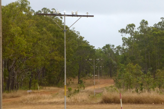 The old telegraph line at Moreton TS