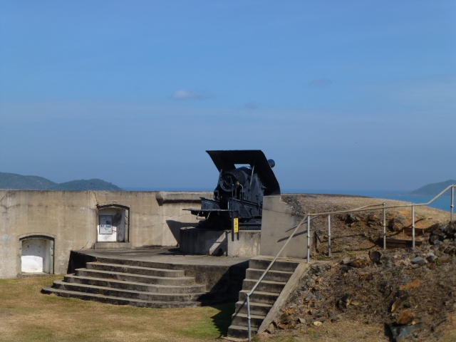 Gun placement at the Old Fort on Thursday Island