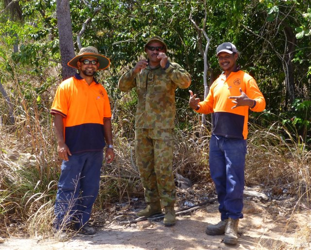 Part of the contingent working to restore some of the military sites on Horn Island