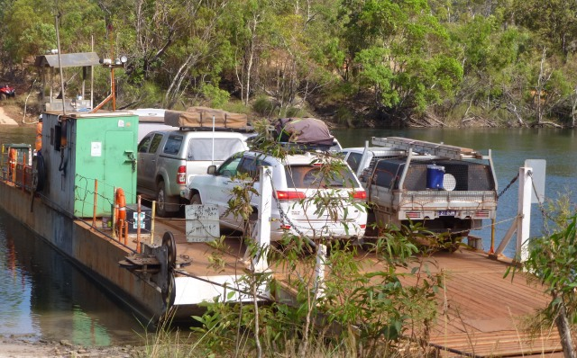 Vehicles on the Jardine River Ferry