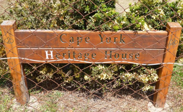 Sign at the front of the house