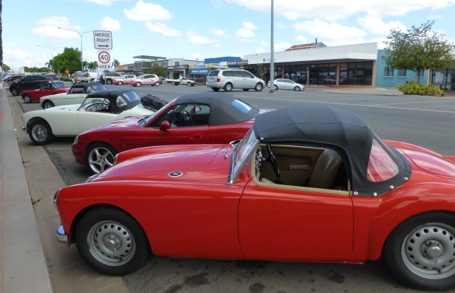 Four MGs and one Mazda ring in were in Mareeba