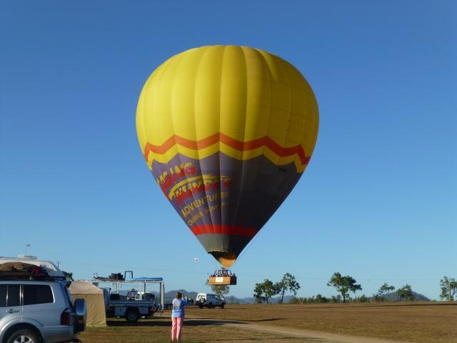 Hot air balloon at Mareeba Rodeo Ground