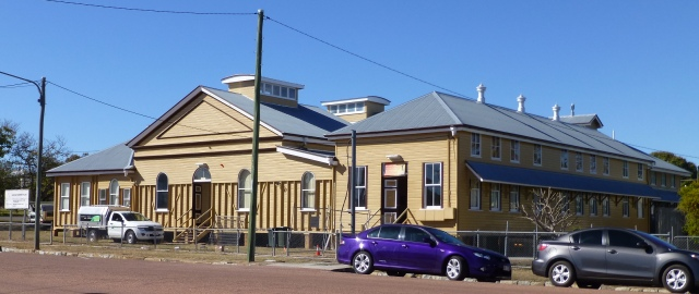 The School of Mines in Charters Towers currently being refurbished