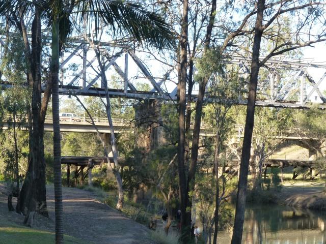Three bridges at the campsite in Emerald