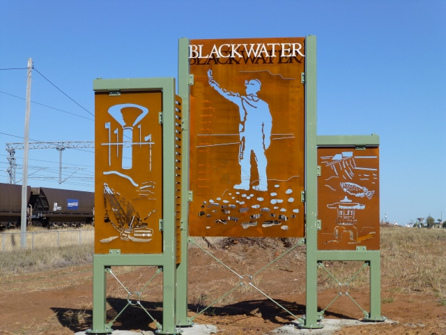 Town sign for Blackwater