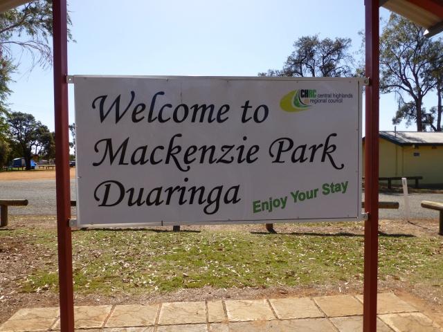 Duaringa was our morning tea stop