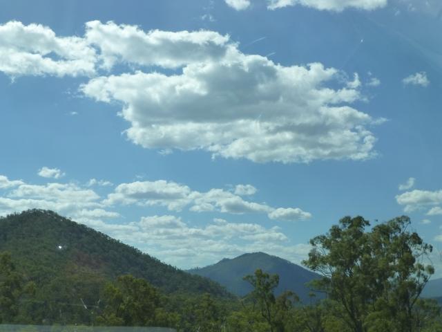 Coming over the range toward Calliope