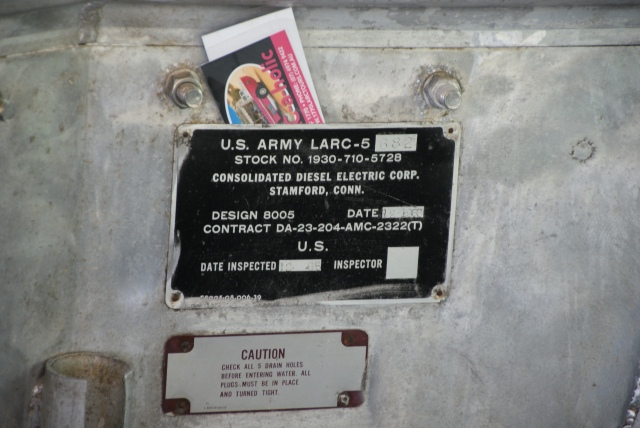 The LARC identification plate