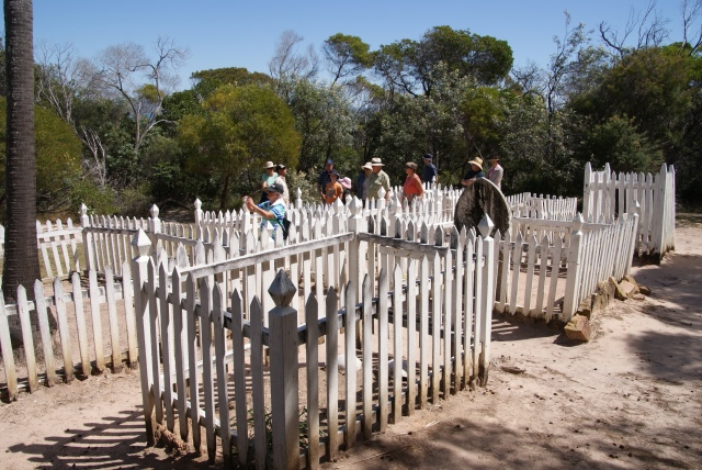 Several individual graves exist - this belongs to a small child