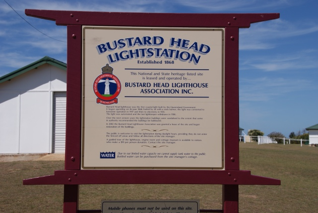 We arrive at the Bustard Head Lightstation