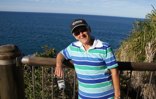 Margaret at one of the viewing platforms on Round Hill Head