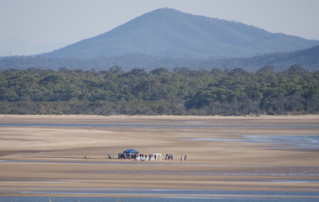 A lovely spot for a wedding - lucky its low tide