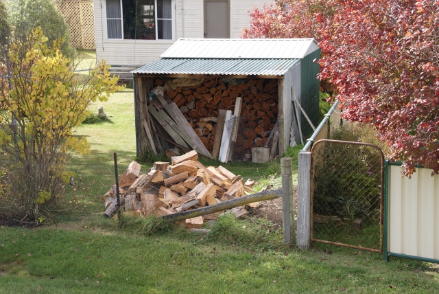 Must be cold in Walcha - lots of houses with wood stockpiles