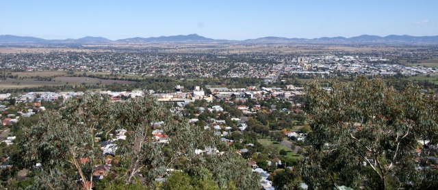 Tamworth from Oxley Lookout