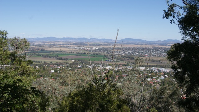 Tamworth view from Oxley Lookout