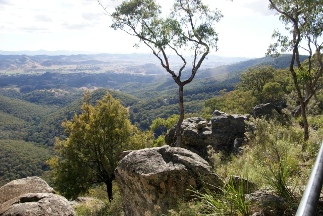 Looking down from Hanging Rock Lookout