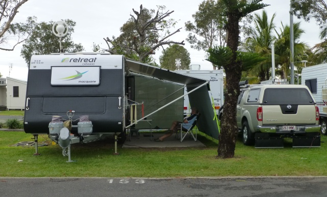 Our camp site at Broadwater