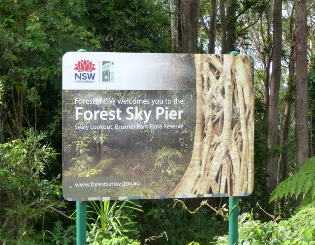 Forest Sky Pier Sign
