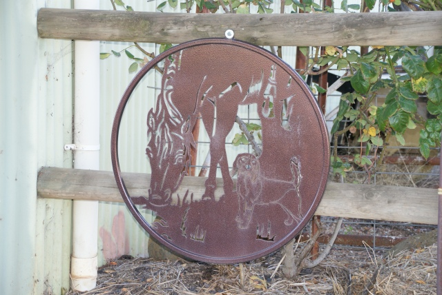 Laser Cut Horse Plaque at Dow Engineering Dookie